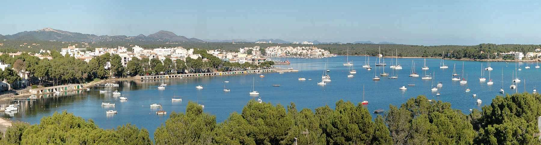 Portocolom with harbor and successful holidays